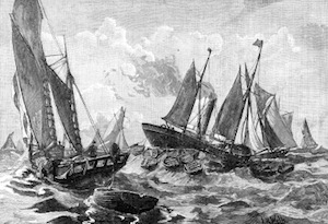 image of victorian fishing boats